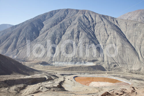 Abraumbecken der Goldverarbeitungsanlage Santa Filomena (Peru, SOTRAMI) - lobOlmo Fair-Trade-Fotoarchiv