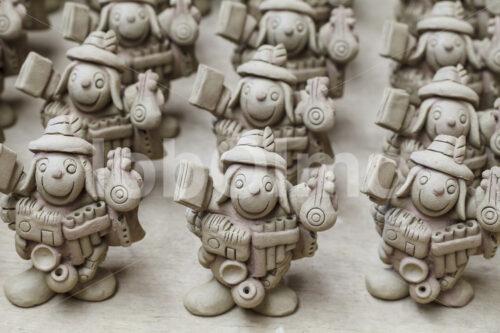 Ekeko Keramik-Rohlinge (Bolivien, Ayni) - lobOlmo Fair-Trade-Fotoarchiv