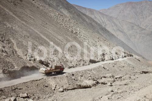 Fahrt zur Goldverarbeitungsanlage Santa Filomena (Peru, SOTRAMI) - lobOlmo Fair-Trade-Fotoarchiv