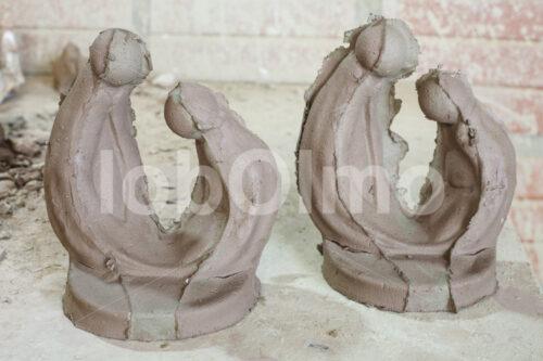 Heilige Familie Keramik-Rohlinge (Bolivien, Ayni) - lobOlmo Fair-Trade-Fotoarchiv