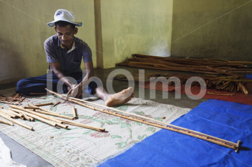 Herstellen von Zimtquills (Sri Lanka, SOFA/BioFoods) - lobOlmo Fair-Trade-Fotoarchiv