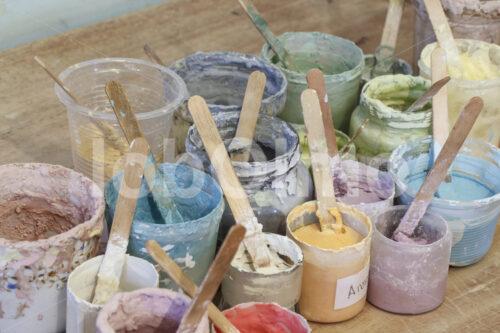 Keramik-Glasuren (Bolivien, Ayni) - lobOlmo Fair-Trade-Fotoarchiv