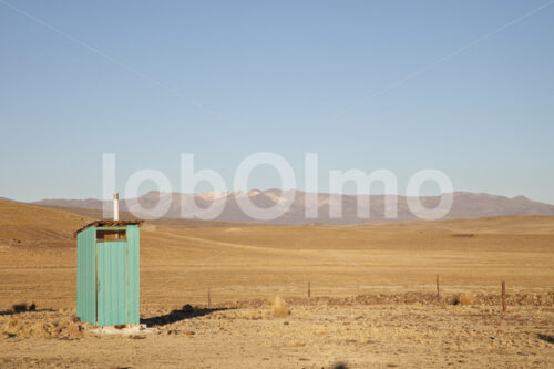 Plumpsklo eines Alpaka-Hirten (Peru, CIAP) - lobOlmo Fair-Trade-Fotoarchiv