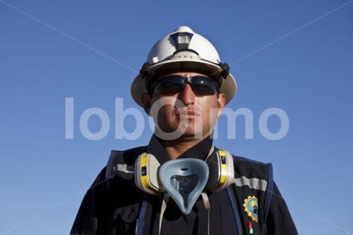 Sicherheitsbeauftragter der Goldmine Santa Filomena (Peru, SOTRAMI) - lobOlmo Fair-Trade-Fotoarchiv