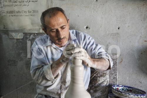 Töpfern (Palästina, BFTA) - lobOlmo Fair-Trade-Fotoarchiv