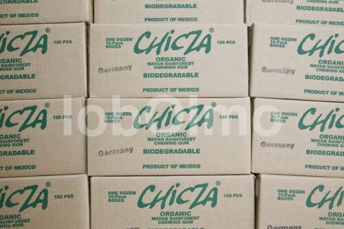 Versandfertiger Kaugummi (Mexiko, Chicza) - lobOlmo Fair-Trade-Fotoarchiv